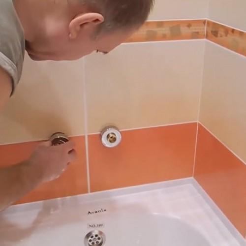 Установка смесителя в ванной комнате