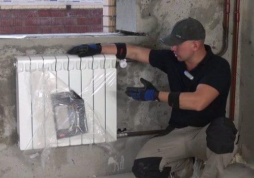 Установка радиатора отопления в новостройке