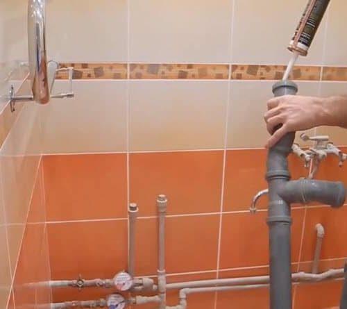 Подготовка труб канализации для ванны