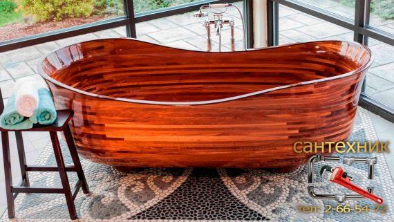 Деревянная ванна - элемент роскоши или высококачественная сантехника