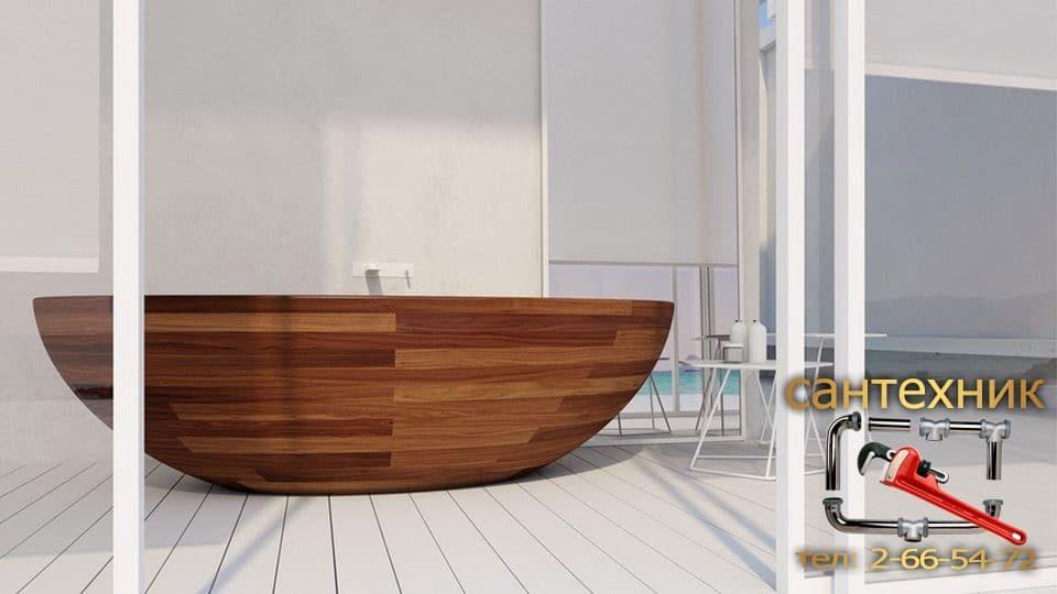 Деревянная ванна — элемент роскоши или высококачественная сантехника