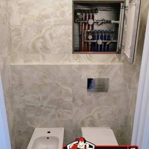 Инсталляция сантехники в туалете по ул. Нейбута