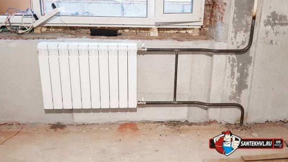 Замена радиаторов отопления по ул. Давыдова 10