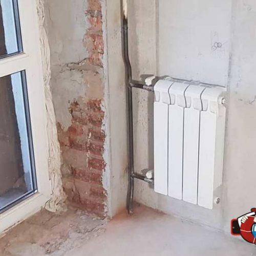 Монтаж нового радиатора