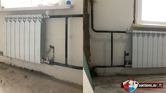 Замена радиаторов отопления на улице Столетия
