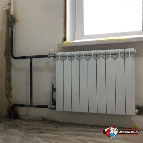 Замена радиаторов отопления и стояков