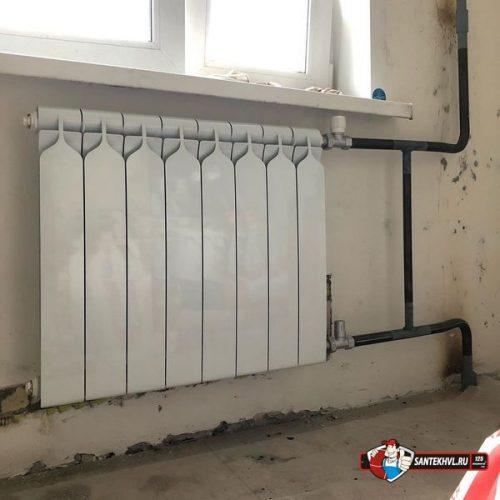 Стоимость на установку радиаторов отопления
