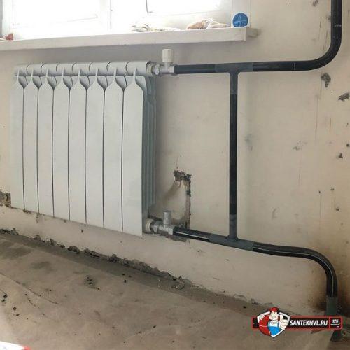 Радиатор отопления в квартире по ул. Багратиона