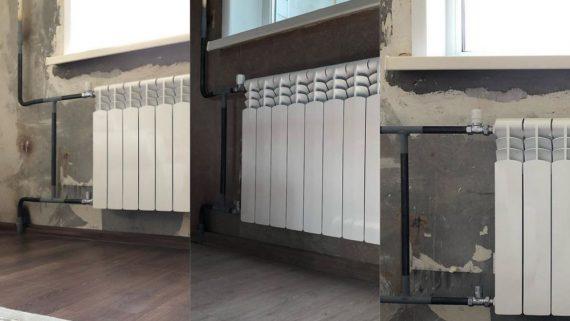 Замена радиаторов отопления по ул. Тигровая
