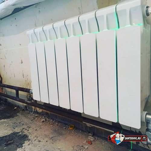замена радиаторов отопления по ул. Пологая