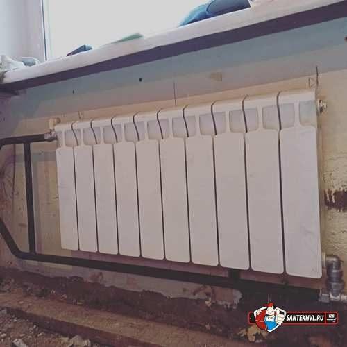 Замена старых радиаторов на новые алюминевые
