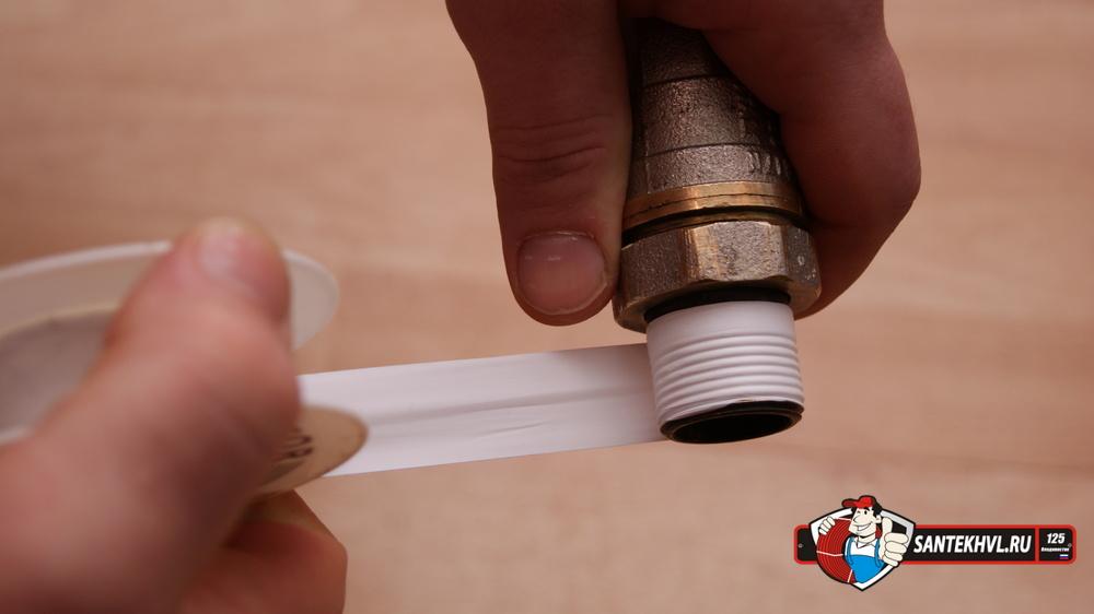 Фум лента для устранения протечек в трубах